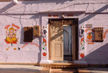 Doors in India / The socio-cultural , religion, beliefs and customs shows the vibrant spectrum of colours in the doors of Indian homes and temples....