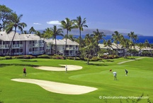 """Wailea Grand Champions Villas / This country club resort amid the Wailea """"Old Blue"""" Course and the Wailea Tennis Center offers an atmosphere of privilege at affordable prices.  Ulua and Mokapu beaches are just down the hill as well as the boutiques, art galleries and restaurants at the Shops at Wailea.  1-, 2- and 3-bedroom suites feature 2 baths with golf-front, ocean or garden views.  Complimentary parking, Internet access, local and long distance calls are included.   / by Destination Resorts Hawaii"""