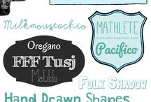 fonts / by Caitlyn Buttaci