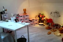 mon atelier - my studio in the South of France / Here is my working place ! Allmy  hats, fascinators, veils, headbands, Juliet caps are created from out of the finest fabrics and materials. I  realize also personalized headpieces, so if you want to get inspired you are welcome  to have a look on my website www.soelegant-bynina.com
