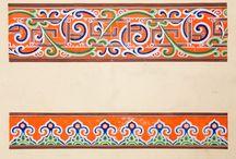 Mongol paint patterns