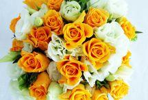 bukiety, kwiaty / bukiet z róży i eustomy