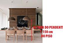 mesa de jantar com pendente