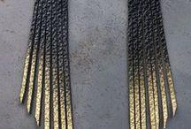 сережки из кожи