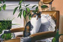 Cat Art / Pretty as a picture