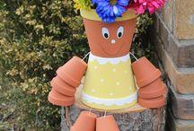 Flower pot dolls