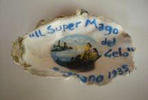 """LE CONCHIGLIE DEL BAR GELATERIA""""MARIO CAMPANELLA IL SUPER MAGO DEL GELO"""" / SONO IN VENDITA COME SOUVENIRS LE CONCHIGLIE DI MARIO CAMPANELLA IL SUPER MAGO DEL GELO"""