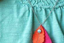 Felt necklace and other media / Ideas for making felt or mix media necklace