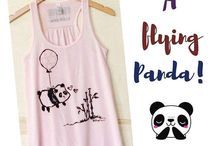 Panda Clothes, Shirts and Accessories / The cutest panda tees, pajamas, hats and accessories.