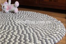 Felt Ball Rugs / Has all the hand made felt ball rugs from Nepal.