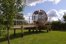The Rotating Seater / Relax and enjoy those long balmy evenings with the contemporary sphere, a new concept to the garden. With the ability to rotate 360° your pod can be positioned into the sun, shade or out of the wind. Using six timber arcs and wide tinted windows this sleek design offers a full panoramic view. The entrance to the pod is set at 60° providing a comfortable seating area for seven guests. http://ornategarden.com/