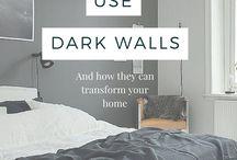 Dark walls decor
