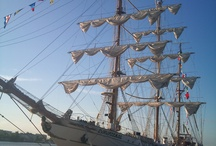 Beautiful boats / A beautiful 3 masts in Bordeaux harbour