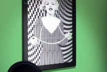 Optical Art / The 3-Dimensional effect of these fabulous pieces of Wall Art is born from a printing method that brings flat and static imagery to life using tiny lenses embedded into a sheet of plastic. This gives the illusion of depth to an image, or several as the case may be.