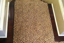 Animal Print Stair Runners / Bring out your wild side by investing in animal prints!