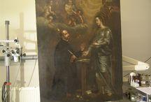 Werkfoto's - Genrestukken / Restauratie van schilderijen - 17de / 18de / 19de eeuwse genrestukken