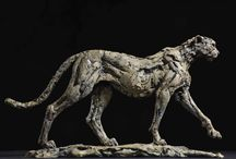 Cheetah - sculpture / Bronze sculptures made by Hamish Mackie, all signed, dated and numbered editions