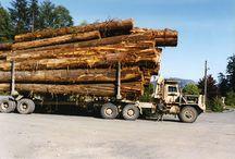vintage logging trucks