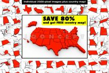 Maps and Geography / Maps of states, countries and other images related to geography and world