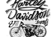 lettering harley davidson