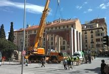 Derribo arcos entorno Mercado Central Zaragoza