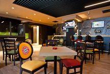 Sports Bar Titan / Sports Bar Titan, parte din portofoliul Chairry - un local bucureștean dedicat sporturilor.