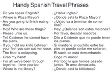 Handy Foreign Phrases