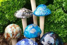 Keramiek paddenstoelen