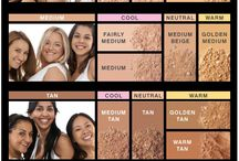Makeup for tanned skins
