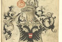 ManuscritArmorial universel, avec blasons peints