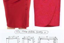 Moldes de falda