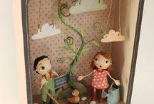 bambole in scatola