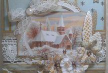 Vintage kerstkaarten