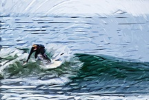 surfing art by Tilly / copyright tilly