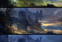 Environments, Landscapes, Cityscapes / Concepts and inspirations - found around Pinterest.