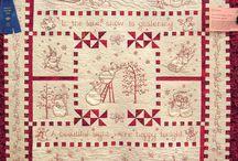 Redwork patchwork