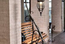 Wrought Iron light stands