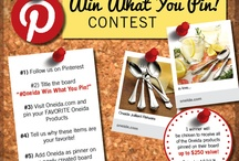 #OneidaWinWhatYouPin / Oneida's Win What You Pin Contest Now through 4/12/13! Win up to $250 of Oneida products! Good luck!  See contest rules below!