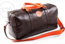 3.7.6. Overnighter Bag OLV - smooth brown / orange / Natural leather, perfect as carry on luggage. http://www.376west.com