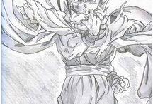 Dibujo manga goku