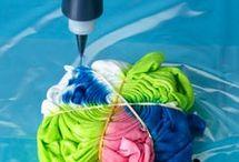 kankaan värjäystä ja maalausta - dyeing textiles