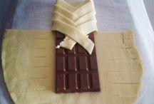 Blätterteig mit Schokolade