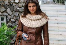 Maxi Golas de tricô e crochê / Peças produzidas em tricô e crochê pelo Ateliê Karine Lopes