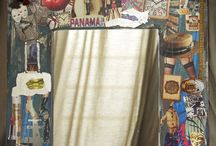 HOME DÈCOR - Vintage Mirror / Decorative mirror with mixed media collage themes