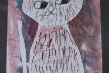 Kočičí / kočky - výtvarno pracovní