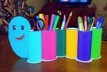 toilet paper roll crafts / organization