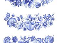 파란 도자기
