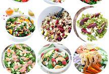 Bouffe - Salade / La salade, c'est loin d'être plate quand on sait bien l'apprêtée. Idées pour sortir de l'éternelle salade-concombre-tomate