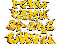 Graffiti abeceda žltá