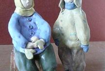 my ceramics, sculpture / retro characters